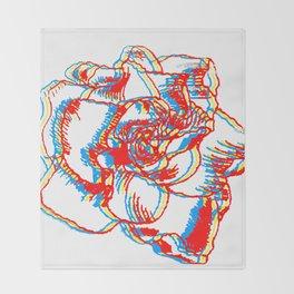 Glitch gardenia - primaries Throw Blanket