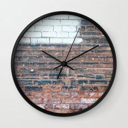 Painted Bricks Wall Clock