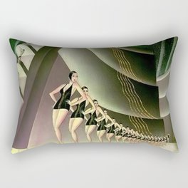 'We Came Here to Shine' - Billy Rose's Acquacade Art Deco 1920's Theatrical Portrait Rectangular Pillow