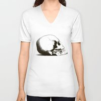 fig V-neck T-shirts featuring Fig 1.2 by Steal This Art