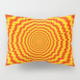 Big Bang in Red and Yellow Pillow Sham