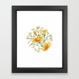 California Poppies - Watercolor Painting Framed Art Print