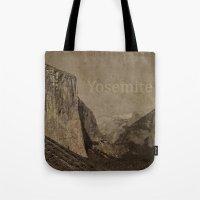 yosemite Tote Bags featuring Yosemite by MillennialBrake