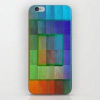 aperture iPhone & iPod Skins featuring Aperture #2 Fractal Pleat Texture Colorful Design by CAP Artwork & Design