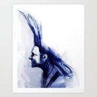 Blue Hawk Art Print