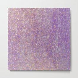 Elegant purple lavender faux gold glitter Metal Print