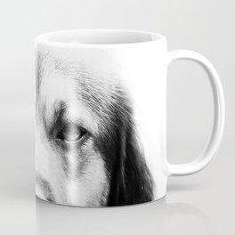 Dog portrait in black & white Coffee Mug