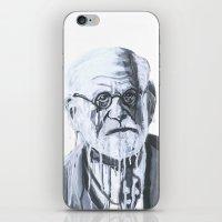freud iPhone & iPod Skins featuring Sigmund Freud by Sobottastudies