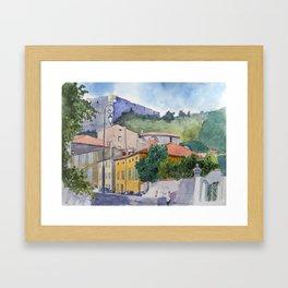 Château de Quillan Framed Art Print