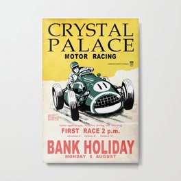 Crystal Palace Motor Racing Metal Print
