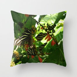 Butterfly Convention. Throw Pillow