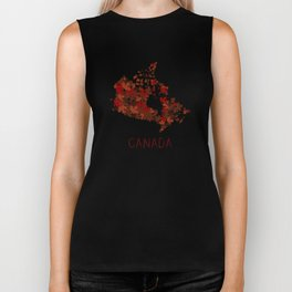 Maple Leafs Map of Canada Biker Tank