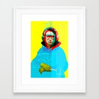 beastie boys Framed Art Prints featuring Gioconda Music Project · Beastie Boys · Adam Horrovitz by Marko Köppe