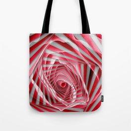Pink Rose Spiral Tote Bag