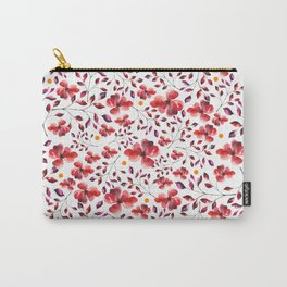 AUTUMN LEAVES - RED Carry-All Pouch