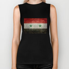 National flag of Syria - vintage Biker Tank