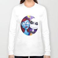 nightmare before christmas Long Sleeve T-shirts featuring Nightmare Before Christmas by Janelle Jex