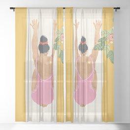 Breathing Meditation Sheer Curtain