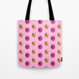 Sherbet Faceted Oval Gemstones Pattern Tote Bag