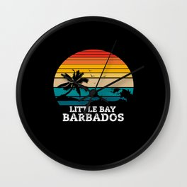 LITTLE BAY BARBADOS Wall Clock