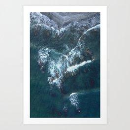Beach Waves Digital Print, Ocean Water Print, Blue Sea Printable, Sandy Seashore Poster, Blue Water Art Print