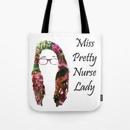Miss Pretty Nurse Lady Tote Bag
