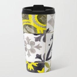 JD_tiled floor1–gouache Metal Travel Mug