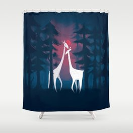 Meeting of the Old Shower Curtain