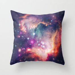 The Universe under the Microscope (Magellanic Cloud) Throw Pillow