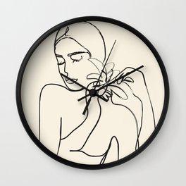 Minimalist Abstract Woman III Wall Clock