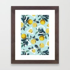 Geometric and Lemon pattern III Framed Art Print