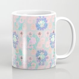 Lotus flower - powder pink woodblock print style pattern Coffee Mug