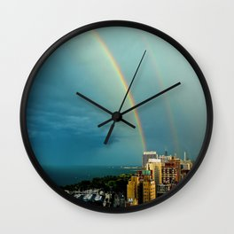 Somewhere Over Chicago Wall Clock
