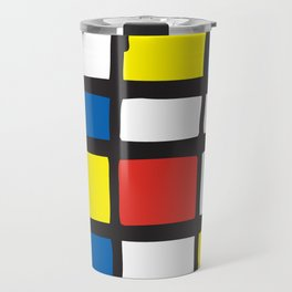Mondrian Variation 1 Travel Mug