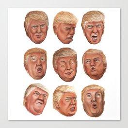 Faces Of Donald Trump Canvas Print
