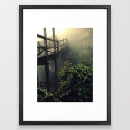 Sticks, Leaves, and Mortar Framed Art Print