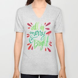 All is Merry and Bright Unisex V-Neck