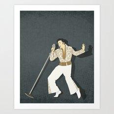 Elvis Presley Impersonator Art Print