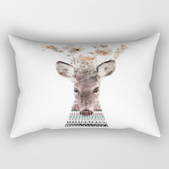 in nature deer Rectangular Pillow