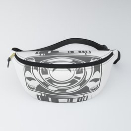 Mechanical box motorcycle with cover in design fashion modern monochrome style illustration Fanny Pack