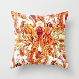 Tangerine Pattern Throw Pillow