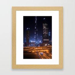 Rooftopping in Dubai Framed Art Print