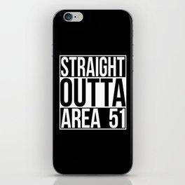 Straight Outta Area 51 iPhone Skin