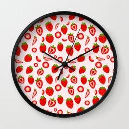 Strawberry milk kawaii Wall Clock