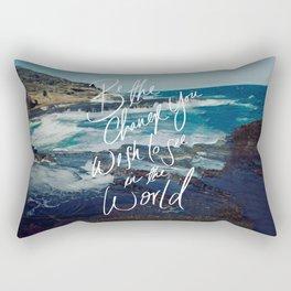 Be the Change (Gandhi) Rectangular Pillow