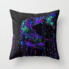 FISH ABSTRACT MOSAIC Throw Pillow
