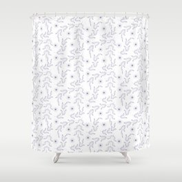 Outline lear and spice, pattern, floral, flower, Shower Curtain