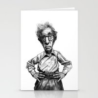 woody allen Stationery Cards featuring Woody Allen by MK-illustration