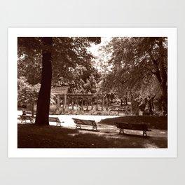 Parc Monceau Art Print