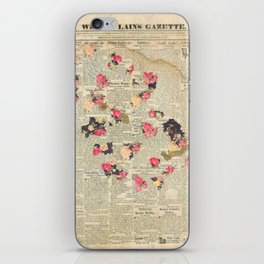 VINTAGE FLOWER COLLAGE iPhone Skin
